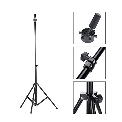 Abody Wig Stand Adjustable Tripod Stand Holder for Hairdressing Training Head Mannequin Head with Carry Bag Test