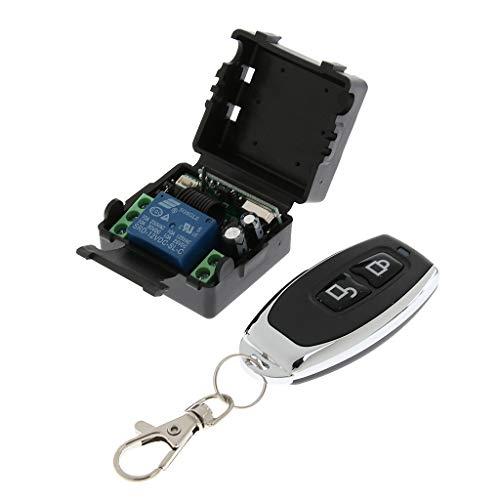 gazechimp 433Mhz Funkfernbedienungsschalter 12V 1CH Relais Empfänger Sender -