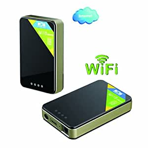 HD-Design(TM)Freelander Wi10 WiFi disque dur mobile pour iPad iPhone téléphone intelligent androïde et PC