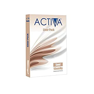 Activa Stocking Liners 3 Pack 10 mmHg Sand Medium