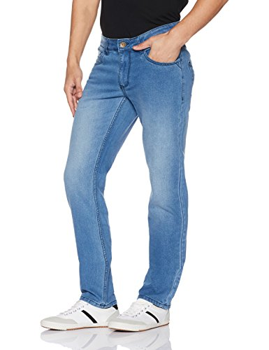 Diverse Men's Relaxed Fit Jeans (DVD01D2L01-1h_Light Indigo Blue_30W x 32L)