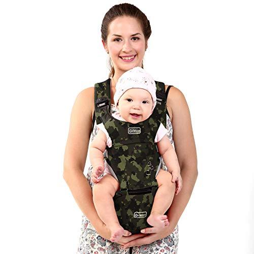 851bda9d47cb2a BeeViuc Marsupio Neonato Ergonomico per 3 a 36 mesi Neonati ideale come  zaini porta bambini, marsupio porta bebè, porta bimbi - Verde Mimetico