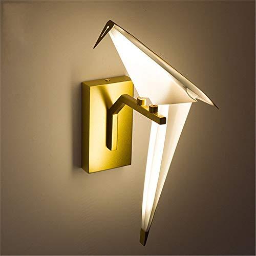 xiadsk licht, Lampe, Laterne Postmoderne Kreative 8 Watt 110 V 220 V Nordic Einzel Origami Kran Vogel Moderne Pendelleuchten Wohnzimmer Foyer LED Wandleuchte (Laterne Foyer Licht 8)