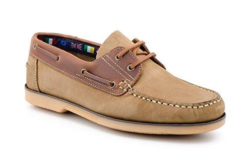 Sachini , Chaussures bateau pour homme Cuir