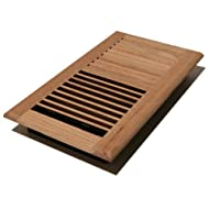 Decor Grates WL612W-U 6-Inch by 12-Inch Wood Wall Register, Unfinished Oak by Decor Grates