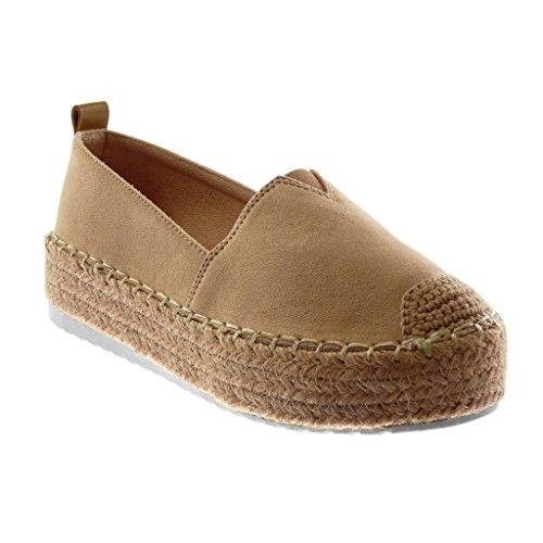 scarpe sportive 3a979 a765f Angkorly - Scarpe Moda Espadrillas Zeppe bi-Materiale Donna ...