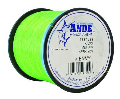 ANDE A14–10GE Premium MONOFILE ANGELSCHNUR, 1/Hammer, Normalstahl, Spule, 10-pound Test, Bright Grün Finish