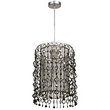 Lámpara Colgante Moderna Lágrimas Acrílico. Color Transparente/cromo. 1xE27. Medidas 31x22.5cm.