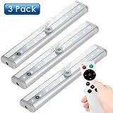 Unterbauleuchte LED 3er Pack Schrankleuchte mit Fernbedienung Lichtleiste für Kleiderschrank, Kabinette, Küche, Showcase, Keller [Energieklasse A++]