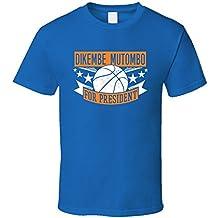 Dikembe Mutombo For President New York Basketball Player Sports T Shirt XXXX-L