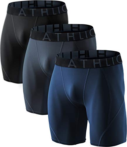 ATHLIO BPS06 Herren Kompressions-Shorts für Sport, 3 Stück, Jungen Damen Mädchen Herren, AO-BSP06-KCN, XX-Large (Basketball 3 4 Leggings)