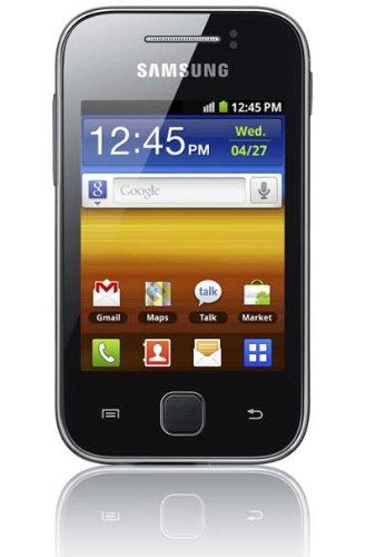 Samsung Galaxy Y S5360 Smartphone (7,62 cm (3 Zoll) Display, Touchscreen, 2 Megapixel Kamera, Android 2.3) metallic-gray