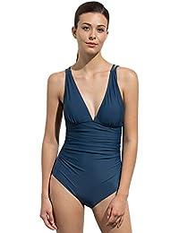 Labelar Damen Einteiler Bademode Tief-V Sexy Badeanzüge Push Up Bikini  Monokini Schwimmanzug acdb179f00