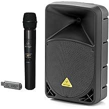 Kit Karaoke Difusor Behringer Eurolive b112mp3+ Micrófono inalámbrico ulm100usb Bundle