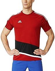 adidas Regi 16 JSY Camiseta, Hombre, Rojo (Rojpot / Blanco / Negro), L