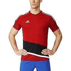 Adidas Regi 16 JSY Camiseta, Hombre, Rojo (Rojpot/Blanco / Negro), 152