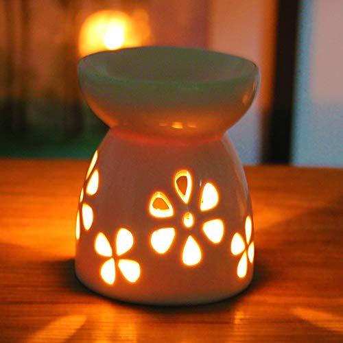 DEBON Duftlampe für ätherische Öle, Duftöle, Duftöle, Duftöle, Duftöfen, Teelichthalter für Spa, Salon, Schlafzimmer, Balkon, Dekoration gänseblümchen -