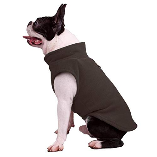 Welpen Mops Kostüm - GOUSHENG-Costumes Haustiere Kleidung Kleider Frühlingsvlies Haustier Kleidung Für Hunde Welpen Kleidung Französische Bulldogge Mantel Mops Kostüme Jacke Für Kleine Hunde Chihuahua Mantel Jacken, 8, Xl