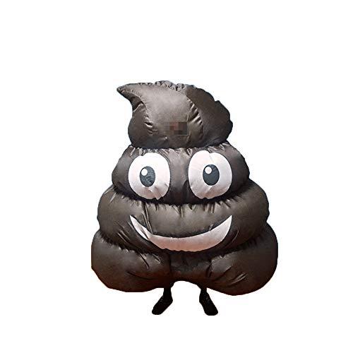 QSEFT Aufblasbare Kleidung Angry Poop Kostüme Cosplay Karneval Party Dress Up Lustige Emoji Poop Kleidung Halloween Rollenspiel Poop ()
