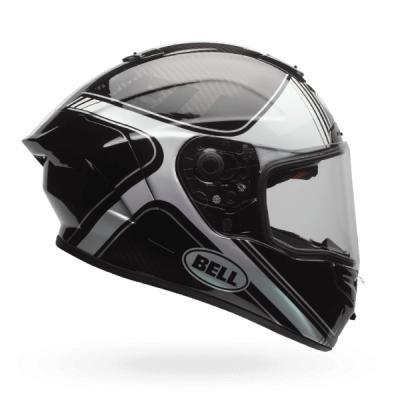 7069646 - Bell Race Star Tracer Motorcycle Helmet M Black White