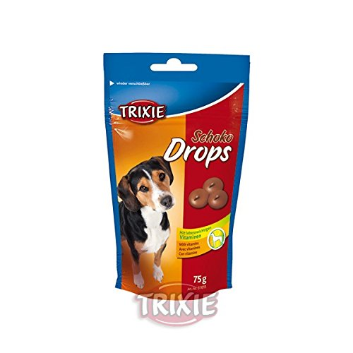 Golosinas para perros Schoko Drops chocolate vitaminados TRIXIE