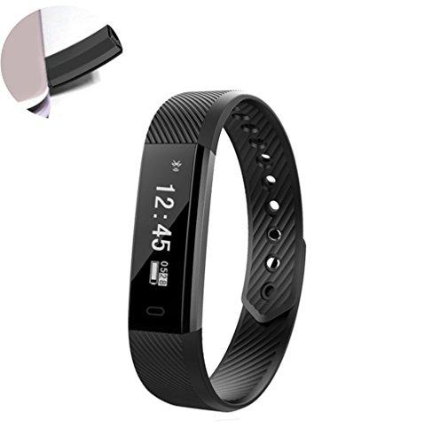 Szjsl Smart Watch, wasserdichte Schrittzähler Activity Tracker Uhr mit mehreren Sport / Schritte Zähler / Schlaf Monitor / GPS-Armband für Android und iOS Smartphone verbunden (Schwarz) (Gps-marken-liste)