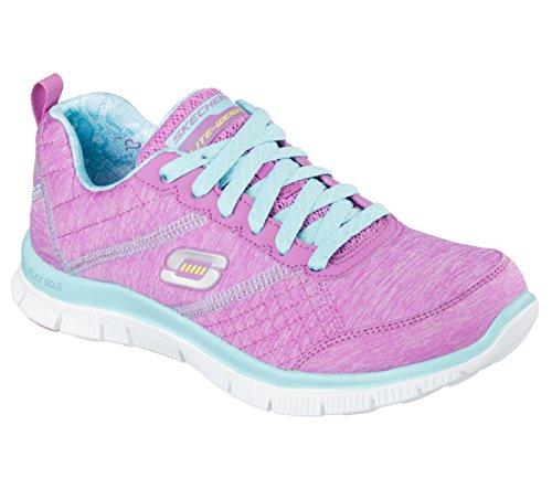 Skechers Flex AppealFloral Bloom, Low-Top Sneaker donna Pupr/aqua