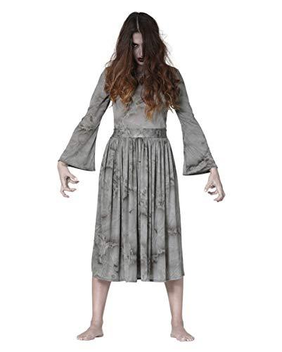 Kostüm Irrenanstalt Frauen - Horror-Shop Irrenanstalt Zombie Kostüm als Phantom Verkleidung für Damen L