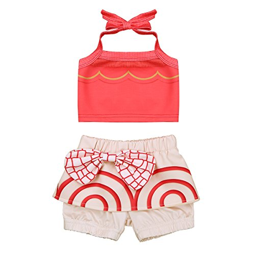 YiZYiF Baby Toddler Girls' Moana Outfits Adventure Bathing Suit Tankini Swimsuit Swimwear