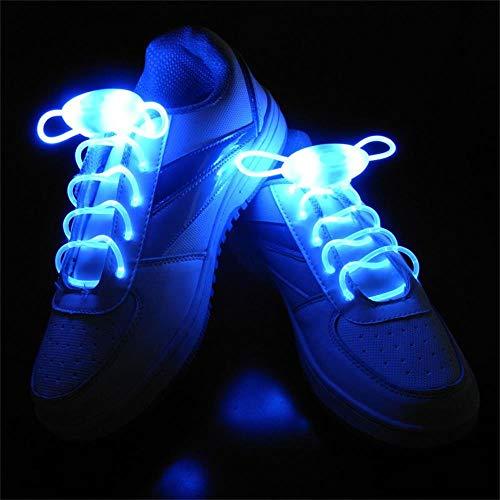 Leuchtend Schnürsenkel 2 Paare Einstellbar LED Schnürsenkel Leucht Schuhband, Party Neuheit Verkleiden Dekor ()