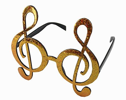 Sachet cavalier confettis de table note de musique Or Discount Mariage