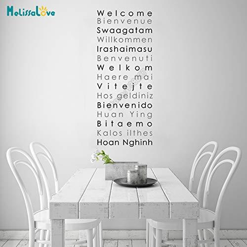 jiushizq Welcome Letter Sign Multilingual International Greeting Decal Vinyl Sticker Facilmente Rimovibile85x202cm