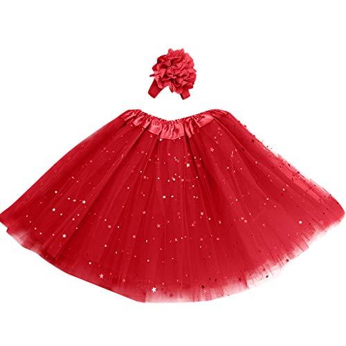 ♥ Loveso♥ Tüllrock Mädchen Ballett Röcke Tutu Rock Ballettrock Tütü Tüllrock für Party Mädchen Kostüm Ballettrock Classic Bekleidung
