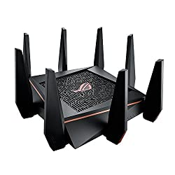 Asus Rog Rapture Gt-ac5300 Tri-band 4 X 4 Gaming Wi-fi Router With 8-port Gigabit (Gamers Private Network, Game Ports, Game Boost, Game Ips, Game Radar, Dual Wan 3g4g Backup)