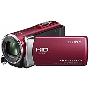 Sony HDR-CX200ER Full-HD Camcorder (5,3 Megapixel, 25-fach opt. Zoom, 6,7 cm (2,7 Zoll) Touchscreen, Kartenslot, iAUTO, HDMI) rot