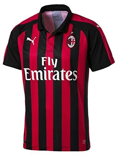 PUMA AC Milan Home Shirt Replica SS with Sponsor Logo Maglietta Uomo