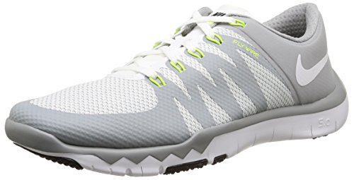 Nike Free Trainer 5.0 V6, Herren Hallenschuhe, Grau (White/White-Wlf Gry-Mtllc Slvr 100), 46 EU