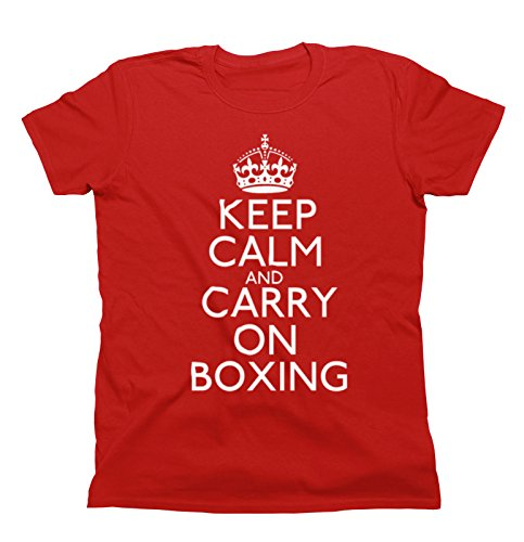 Unisex Fit TShirt Keep Calm Sports Scegliere Impostazione Uomo e donna Christmas Gift Boxing Rosso
