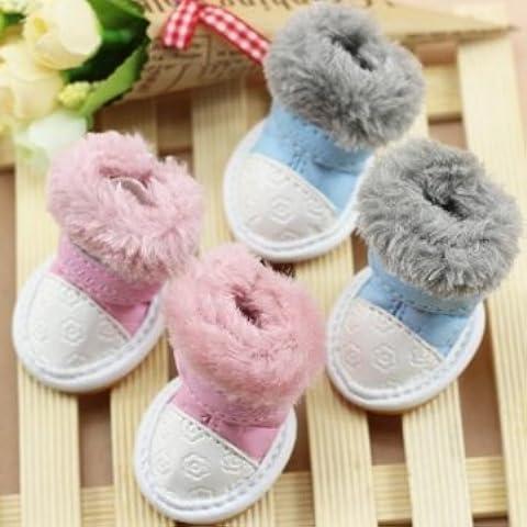 Scarpe per cani e gatti Fuzzy antiscivolo stivali da neve