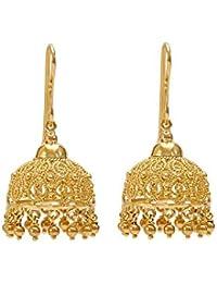 [Sponsored]Gehna 18K (750) Yellow Gold Jhumki Earrings
