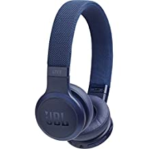 JBL LIVE 400BT - Auriculares Inalámbricos con Bluetooth, Alexa integrada y Asistente de Google, Calidad de Sonido JBL y función TalkThru y AmbientAware, Hasta 30h de música, color Azul
