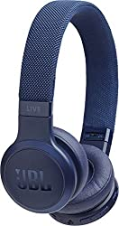 JBL Live 400BT kabellose On-Ear Kopfhörer - Bluetooth Ohrhörer mit bis zu 24 Stunden Laufzeit und Alexa-Integration - Musik hören und telefonieren unterwegs Blau