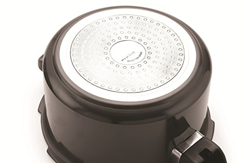 Tosaa Star Range Plus Induction Base Hard Anodised Aluminium Pressure Cooker, 3 litres, Black