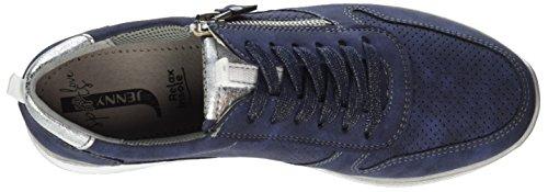 Jenny Damen Sapporo Sneaker Blau (Indigo,silber)