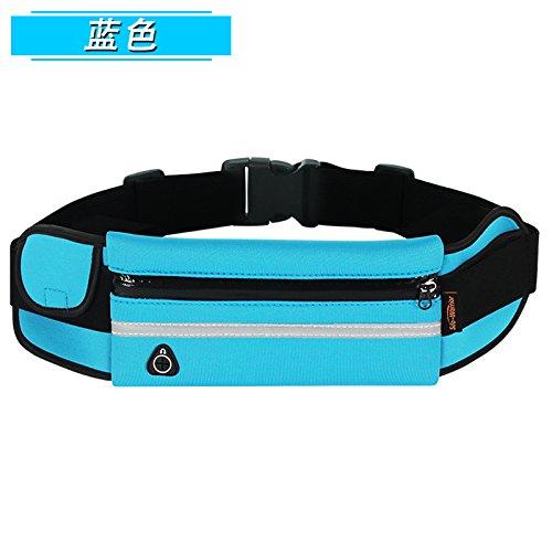 KANG@ Sport Taille Pack Multifunktions Running Männer und Frauen Outdoor Handy Tasche Anti-Diebstahl intime Stealth wasserdicht Beutel Blau