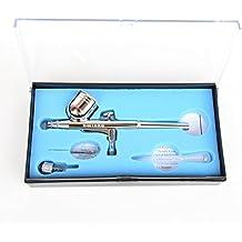 Nuevo Kit de doble acción del aerógrafo del cepillo de aire Pistola de pulverización de 0,3 mm para el clavo del arte / tatuajes del cuerpo de Modelos de aerosol / torta / de juguete