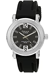 OMAX ANALOG SILICONE STRAP BLACK DIAL WATCH FOR BOYS (MONTRES OMAX S.A. - A SWISS WATCH COMPANY) ...