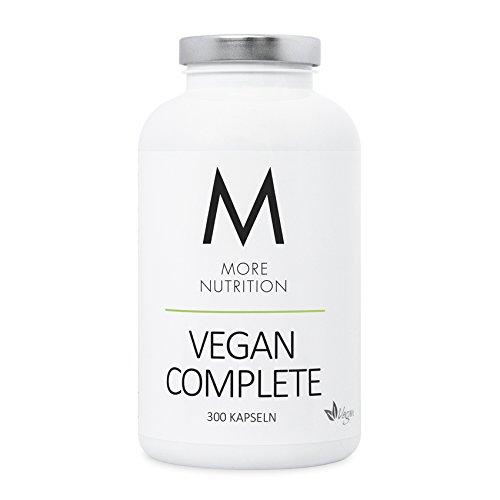 More Nutrition Vegan Complete - 2 Monats Packung - Nahrungsergänzung Für eine Vegane Ernährung 1 x 300 Kapseln