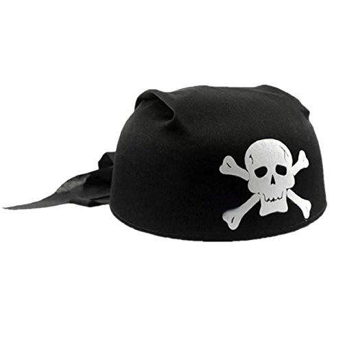 Runde Kostüm Ball - HEALIFTY Piratenhut für Kostüm Cap Balls Halloween Maskerade Cosplay Runde (Schwarz)