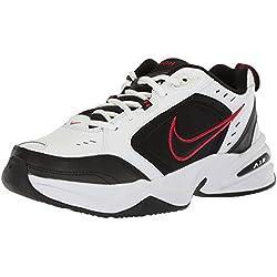 Nike Air Monarch IV Training Shoe (4E) - White/Black/Varsity Red, Size 10.5 US